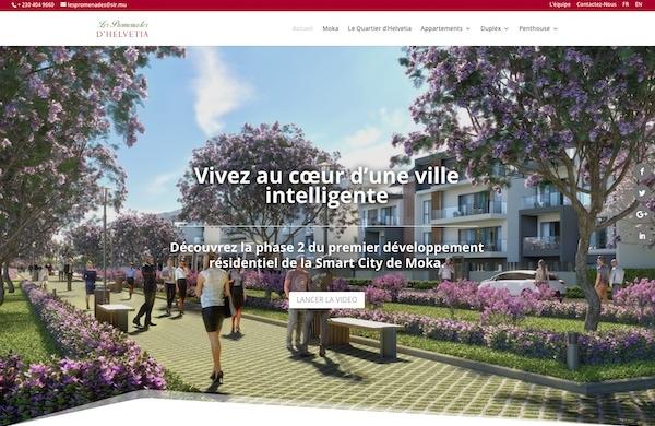 les promenades d'helvetia mauritius website design